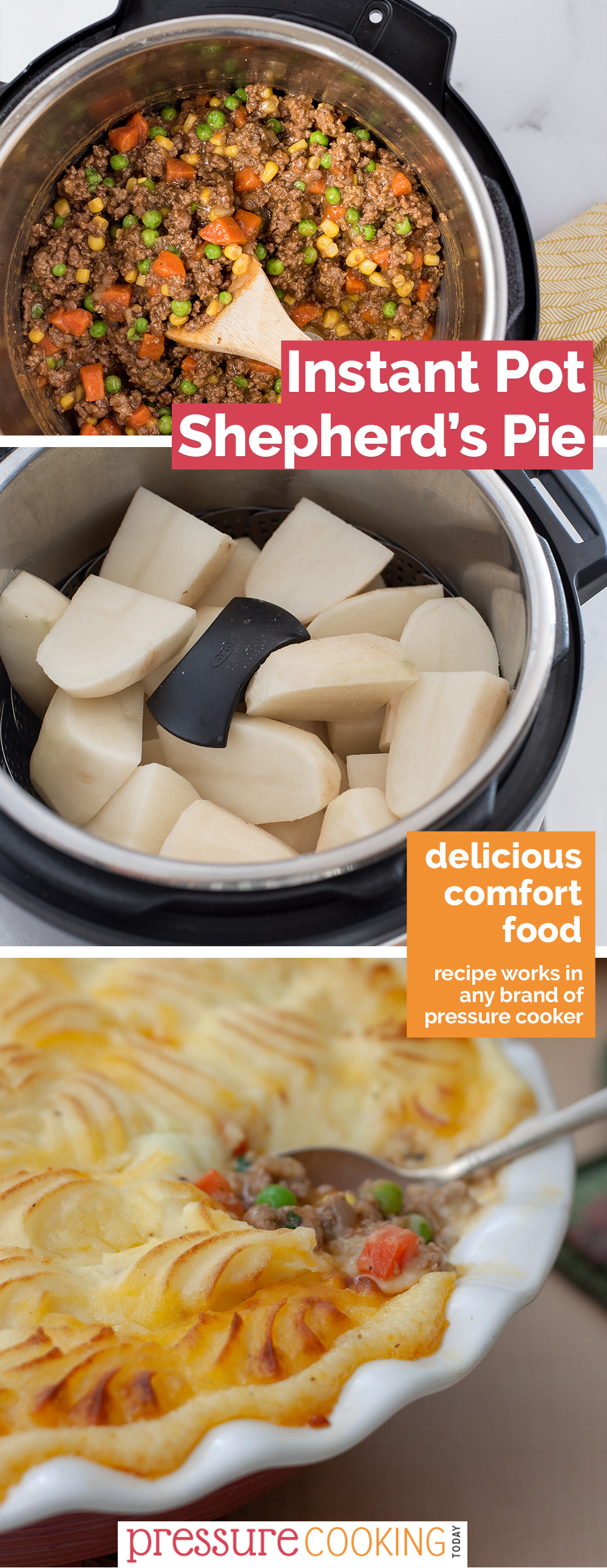 Use ground beef or lamb to make the EASIEST Shepherd's Pie. When you're in the mood for comfort food, this is the prefect meal. via @PressureCook2da