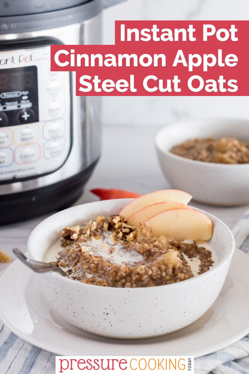 pinterest button for instant pot steel cut oats with apples and cinnamon