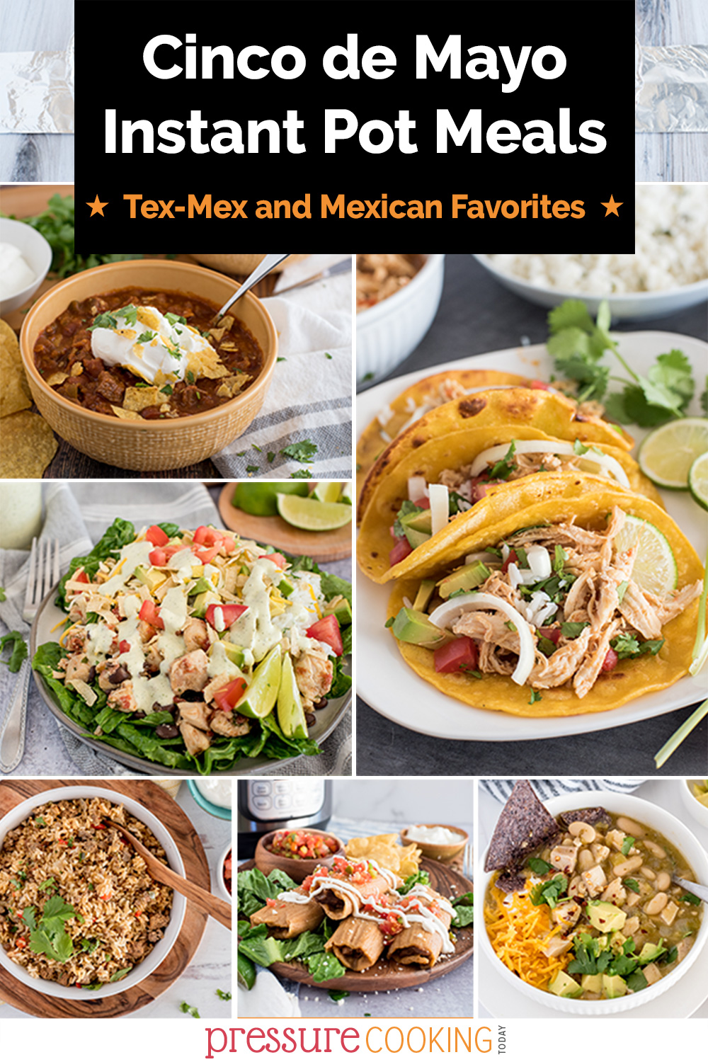 These are the 40+ best Instant Pot Cinco de Mayo recipes for dinners, soups, stews, desserts, and side dishes. Also great for Taco Tuesday! via @PressureCook2da