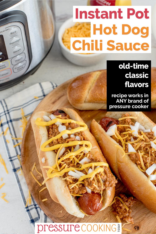 Instant Pot Chili Dog Sauce via @PressureCook2da