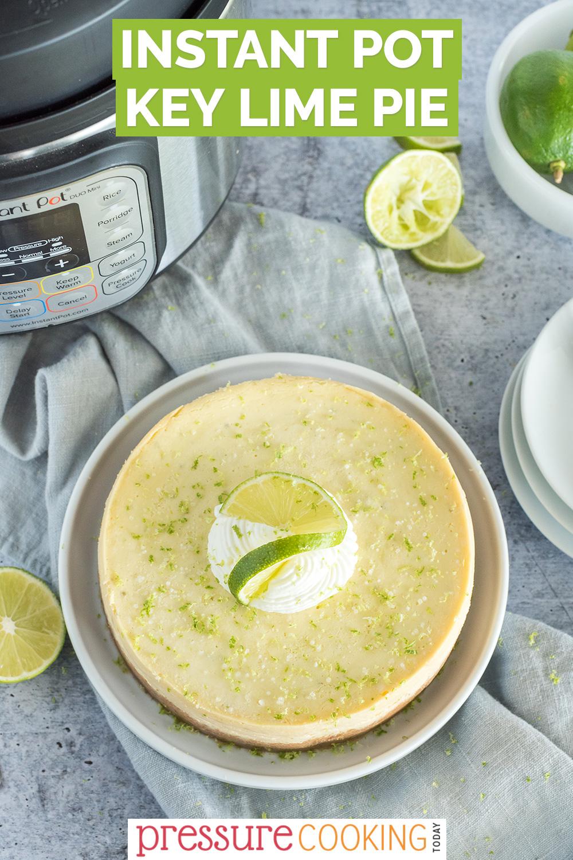 instant pot key lime pie pinterest button via @PressureCook2da