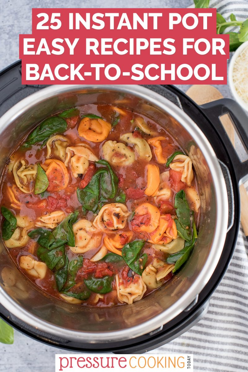 Pinterest button advertising 25 Instant Pot Easy Recipes for Back to School