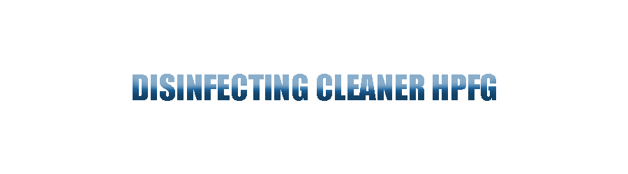 Disinfecting Cleaner HPFG