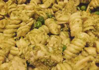 Instant Pot Pesto Chicken Pasta Salad