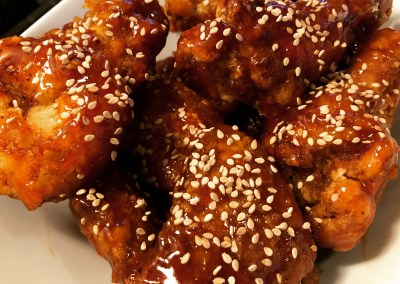 Sesame Chicken Wings or Breasts (Korean Fried Style)
