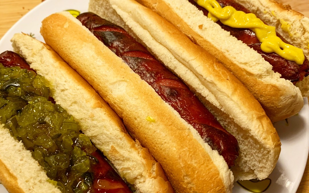 Ninja Foodi Cheat-Grilled Hot Dogs