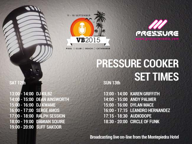 vocal booth weekender 2015 live broadcast from Pressure Cooker