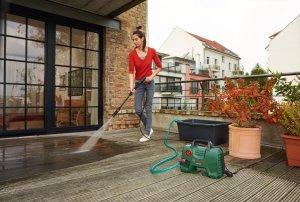 bosch aqt 33-11 pressure washer review compact storage garden path footpath brick
