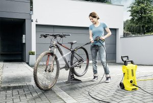 Karcher K2 Full Control pressure washer bike car windows shed garage garden path patio driveway