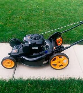 Poulan Pro 2-in-1 Hi-Wheel Push Mower