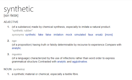 define synthetic