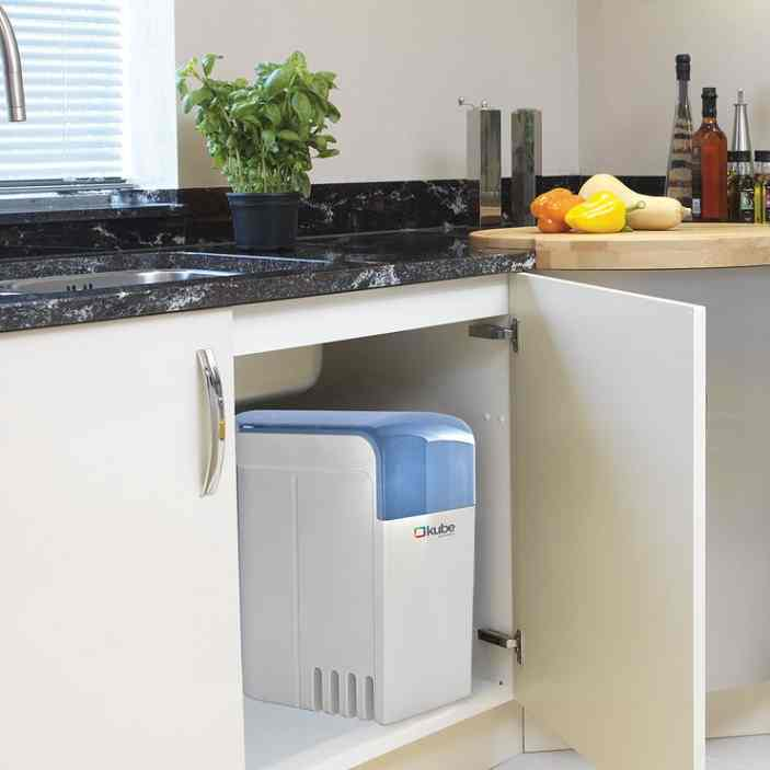 water softener in kitchen