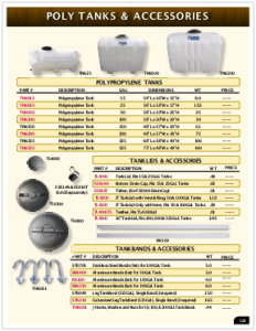 2019 Pressure Zone Parts 24 Poly Tanks
