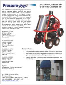 Spec Sheet SH Series v2009 pz