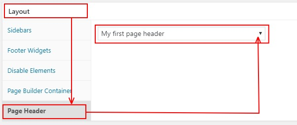 Choosing a page header for an individual post or page