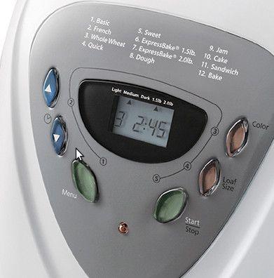 sunbeam-2891-maquina-de-pan-controles