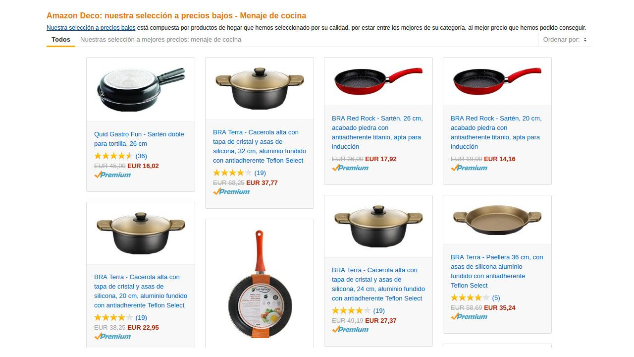 precios bajos - Menaje de cocina-deco