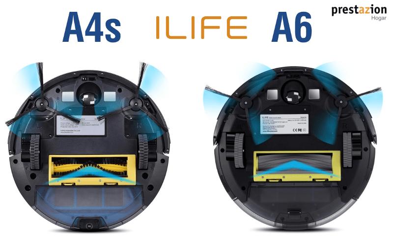ILIFE A6 Robot Aspirador-vs A4s-comparativa