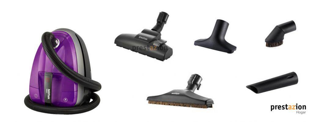 NILFISK SELECT-aspirador de trineo-cepillos accesorios