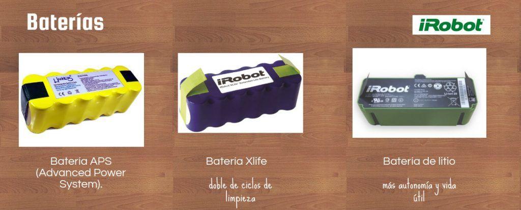 baterías-roomba-serie 600-700-800-900