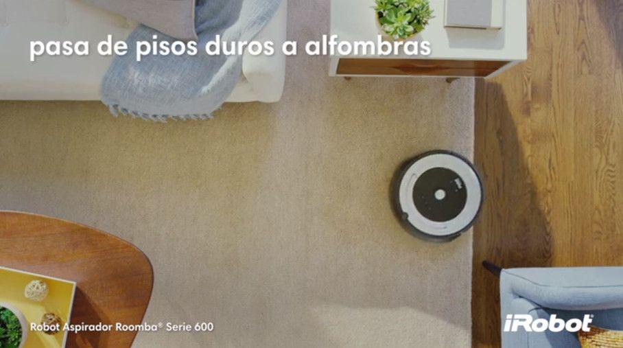 roomba 680 alfombras y suelos de madera