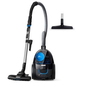 Philips PowerPro Compact FC9331-09 Aspirador sin Bolsa, Filtro Antialergia, 650 W, 79 dB, Negro, Azul, Plata [Clase de eficiencia energética A]