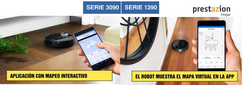 Conga robot aspirador Cecotec-comparativa-serie 3090-1390- mapeo
