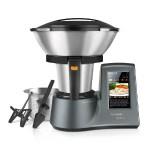 Taurus Mycook Touch - Robot de cocina por inducción de 40 a 140º C, pantalla táctil de 7, 10 velocidades y cuatro funciones especiales, 1600 W, Acero Inoxidable, Gris