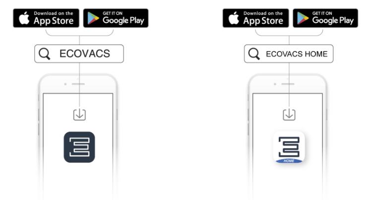 Robot aspirador DEEBOT Ecovacs APP android iphone