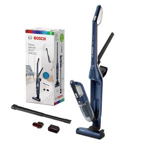 Bosch Flexxo BCH3P255 Serie 4 - Aspirador escoba recargable 2-en-1, autonomía hasta 55 minutos, 25.2 V, color azul