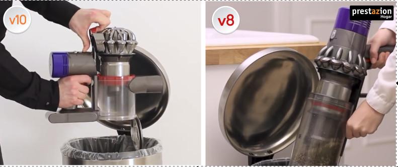 Comparativa-Dyson-V10-Motorhead-vs.-V8-Absolute-Pro-vaciado-del-cubo