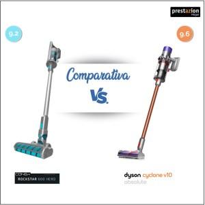 Conga ROCKSTAR 600 hero vs dyson v10 absolute comparativa-mejor aspiradora sin cable