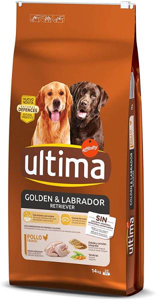 Ultima Pienso para Perros Golden y Labrador Retriever con Pollo