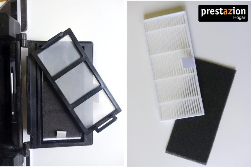 Proscenic 850T tiene un filtro HEPA