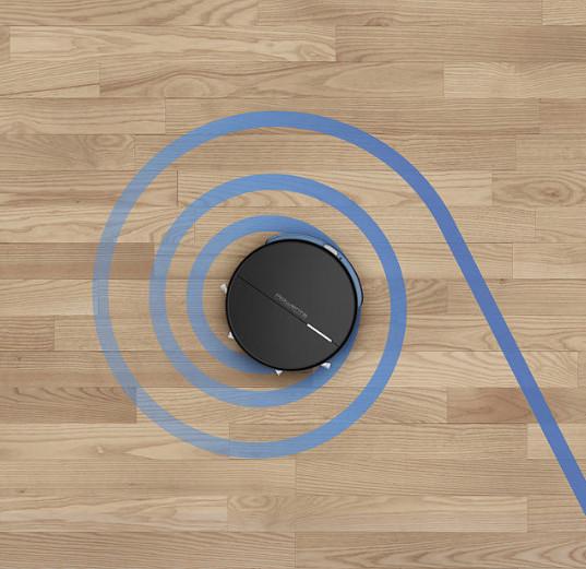 """Zona localizada: coloca tu robot manualmente en la zona deseada y pon el modo """"zona localizada"""" en la app; aspirará en círculo a partir del punto de partida."""