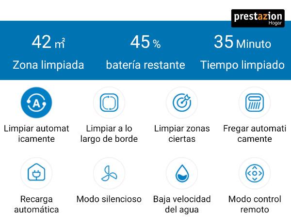 Proscenic 850T modos de limpieza