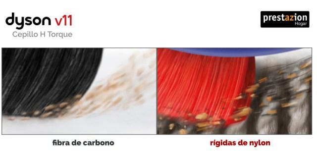 Dyson-v11-extra-cepillo-high-torque-fibras-carbono-y-nylon