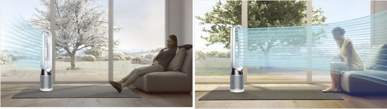 Flujo de aire difuso y directo purificador de aire Dyson