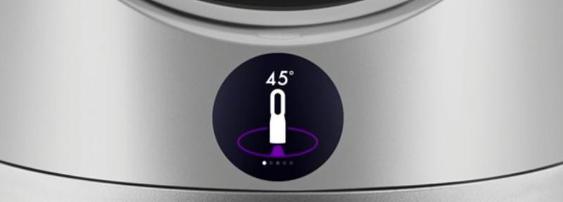 Puridficador de aire dyson oscilación muestra pantalla