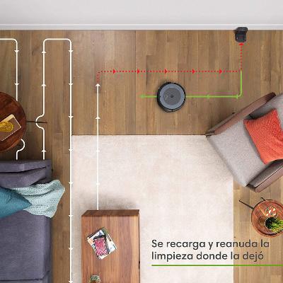 Recarga y reanudación Roomba i3