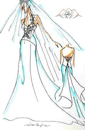 croquis robe de mariée Lolita C.