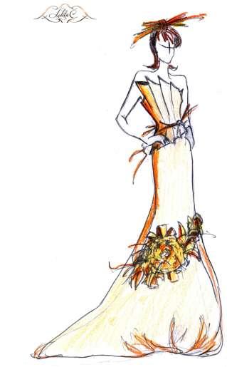 Création de robe de mariage Lolita C.