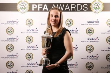 Beth Mead, winner of the Young Women's Players' Player of the Year 2016