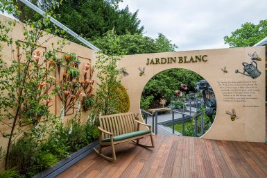 Jardin Blanc, entrance