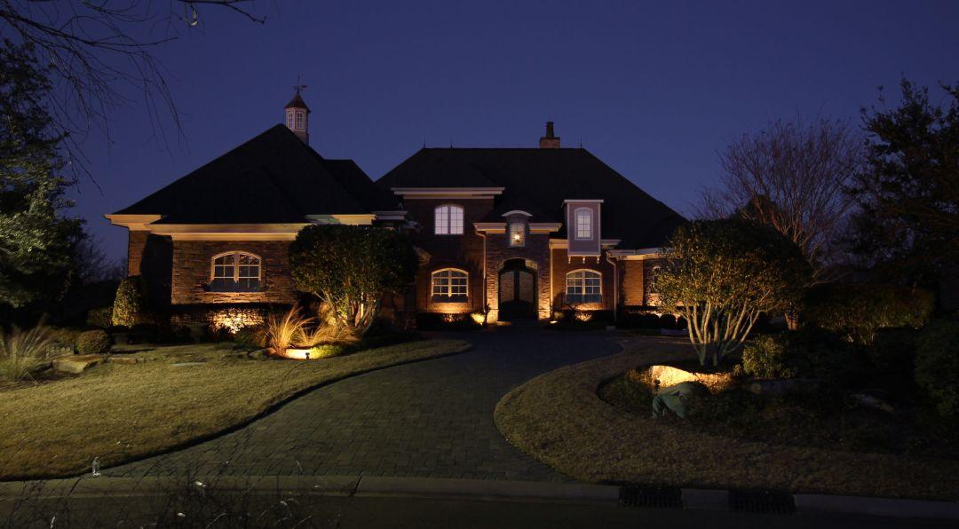 Low Voltage Landscape Lighting in Thistle Estates Neighborhood Sunset Beach NC 28468