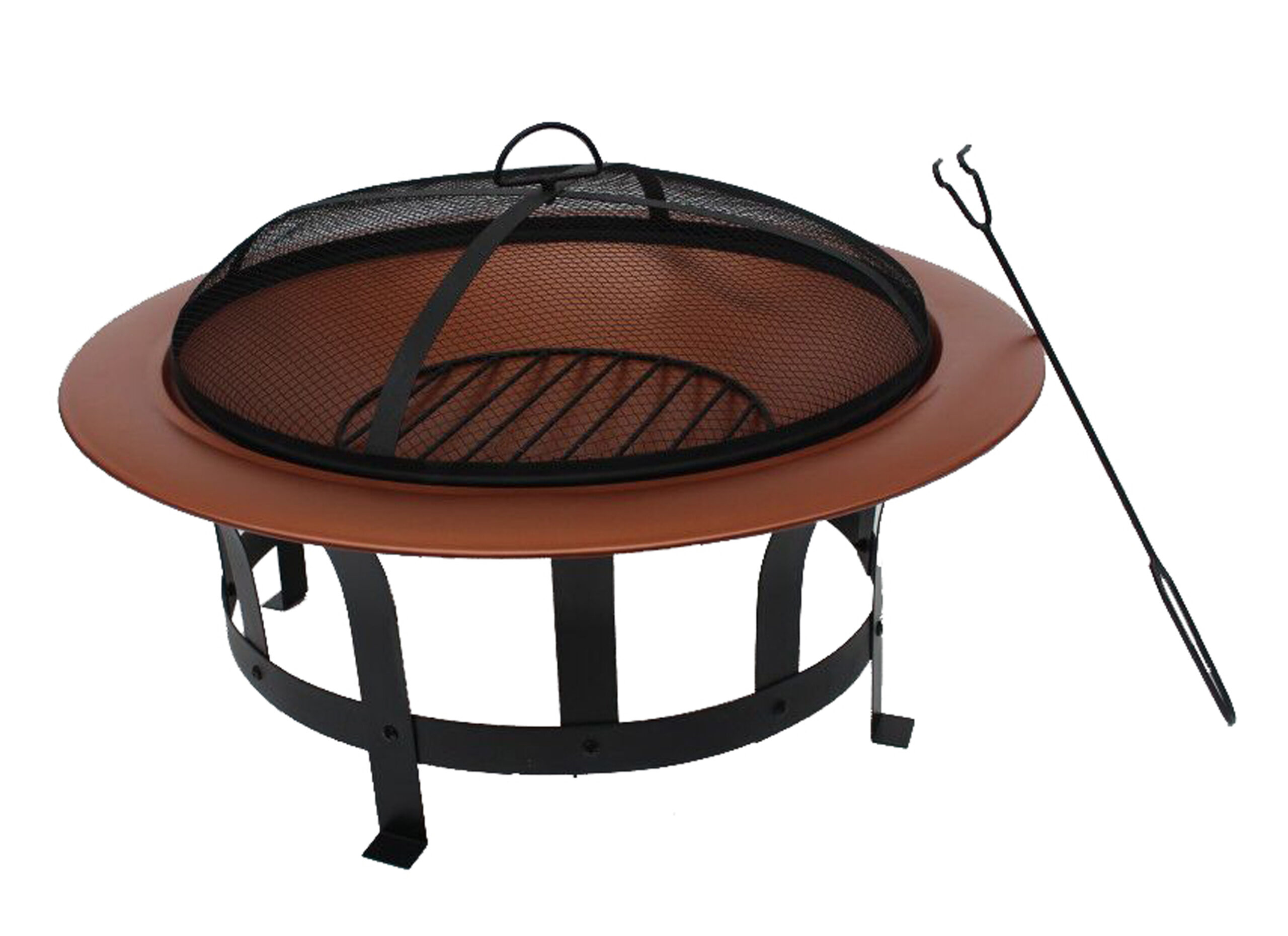Nicole Miller Patio 30 Inch Wood-Burning Fire Pit in Copper Finish