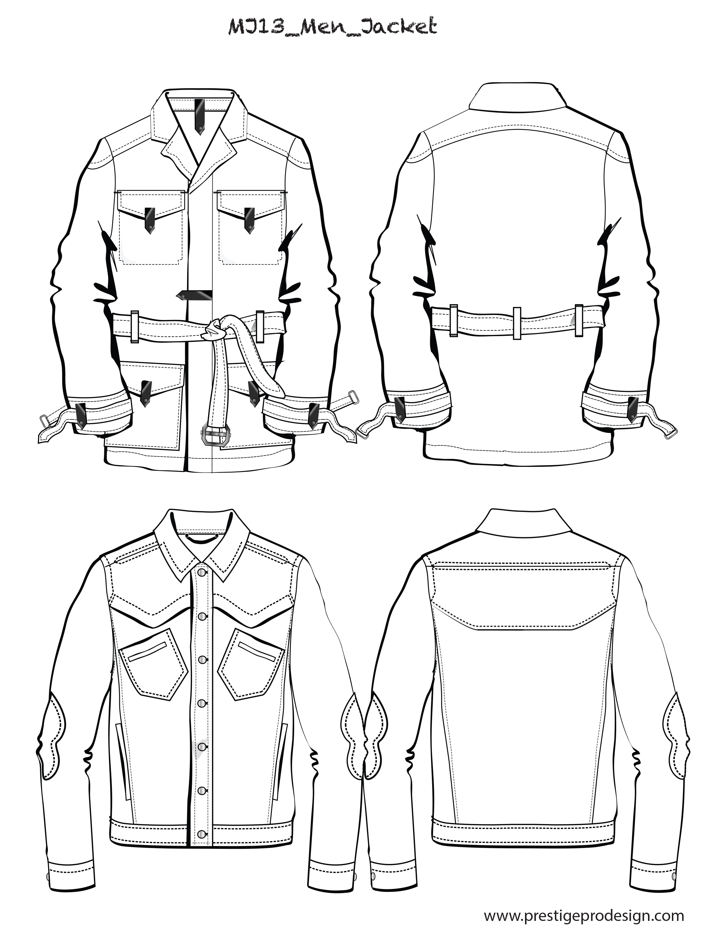Men Flat Sketches For Jackets Amp Outerwear