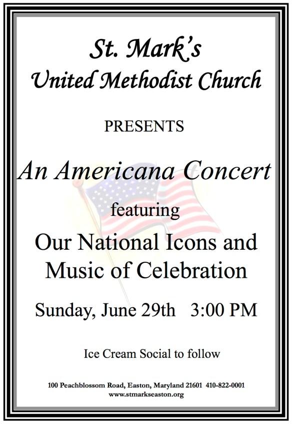 Americana Concert poster 2014