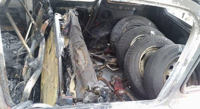 Drzna tatvina, požar na vozilu in vlom v hišo