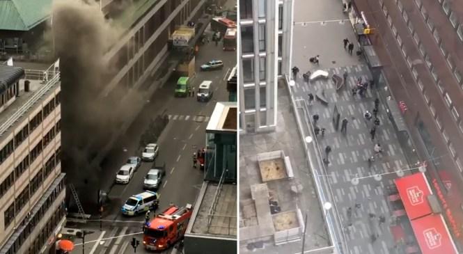 VIDEO: Tako so ljudje bežali po ulicah Stockholma